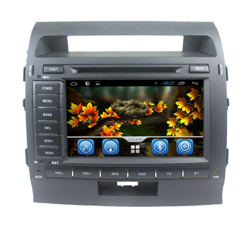 Wholesale Capacitive Screen 3G Wifi for Toyota Land Cruiser LC200 (2008-2010) pure Android 4.2.2 Car stereo with Gps navigation