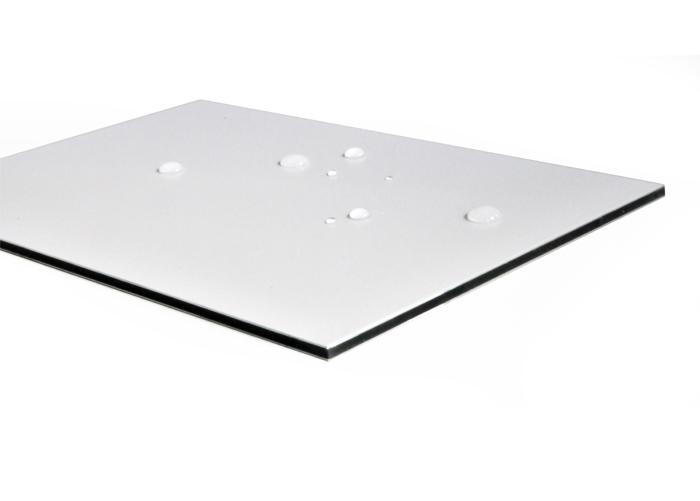 White Aluminum Composite Panel : Aluminium composite panel pvdf coating fireproof wall
