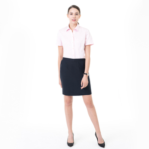Factory Price Plain Women's Shirt 100% Pure Cotton Half Sleeve Business Casual Formal Shirts for Women Wholesale OEM