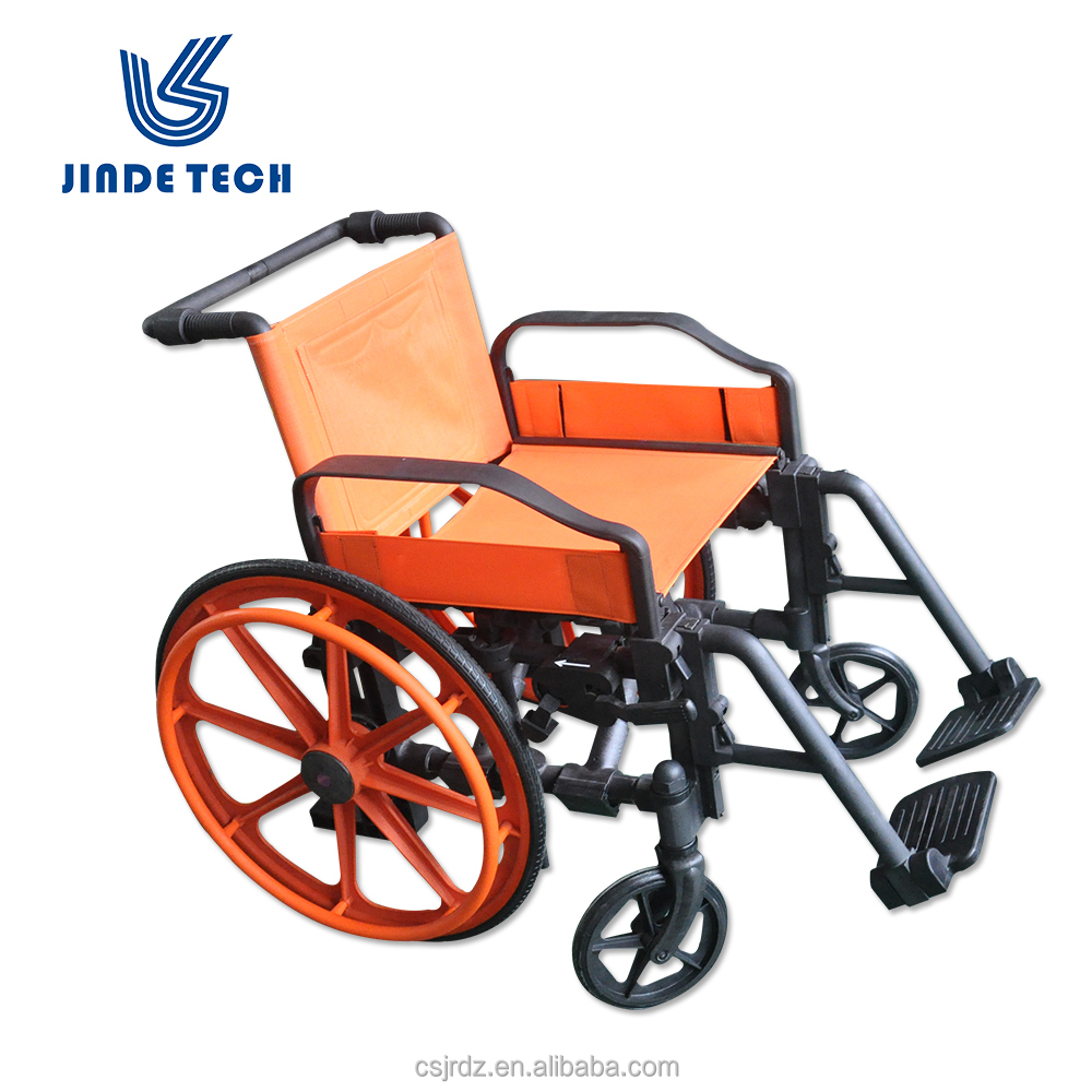 Mri-conditional non-magnetic pvc wheelchair