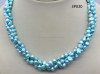 dyed color fashion pearl necklace pearl