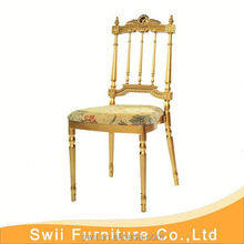 used wedding folding chair gold gilt chair