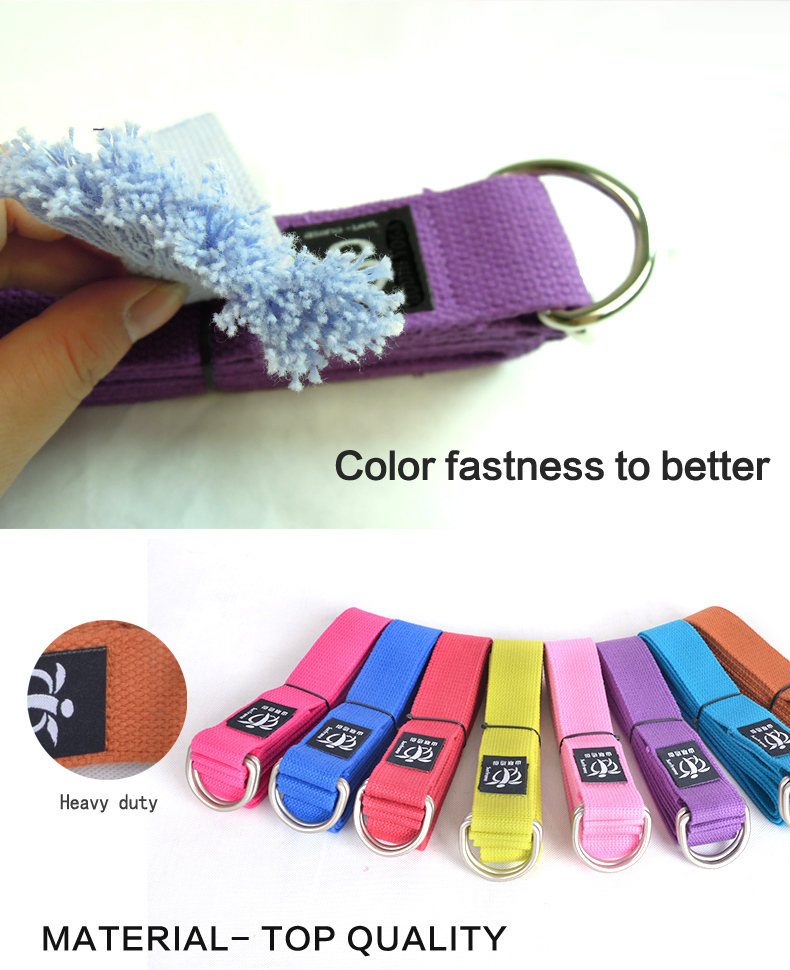 Cotton exercise Yoga Strap with cotton material super non-slip yoga tool welcome OEM brand