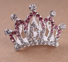 Yiwu Zhejiang Wholesale Factory Supplier Directly Hot Sale Fashion Elegant Royal Crystal Tiara