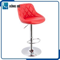 2016 new design unique leather material bar high chair furniture