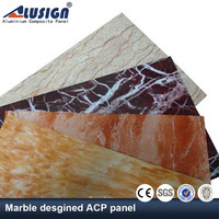 Alusign aluminum composite 4mm plastic stone panels for wall decorative