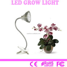 7W Led Grow Light Clip Desk Lamp Clamp Flexible Neck 360 Degree For Office, Home, Hydroponic Garden