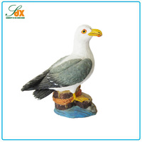 2016 factory supply hot sale resin seagull figurine