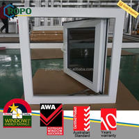 Australia standards pvc double glazed out opening windows, Premium vinyl casement window