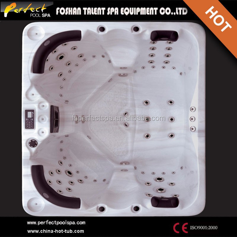 2014 Hot Sale!Sex massage outdoor spa 4 person luxury hot tub Ozone outdoor spa with 2 lounge Happy hot tub