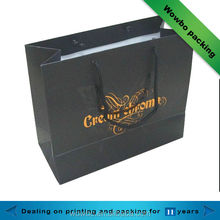 Luxury custom logo paper shopping bags