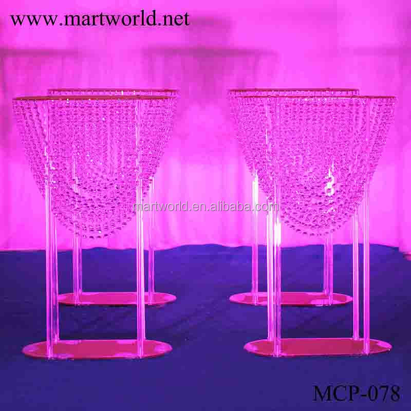2018 new clear arcylic centerpiece crystal centerpiece party wedding decoration flower stand wedding table centerpiece (MCP-078)