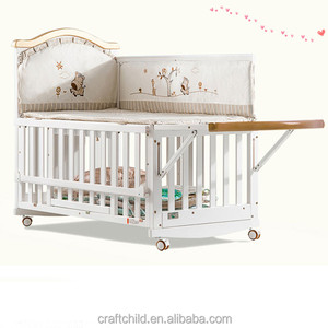 White painting pine wood cot crib extenders/single cot bed