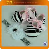 2014 Cheap Christmas children shoes girl Zebra Printed Baby shoes wholesale baby crib shoes
