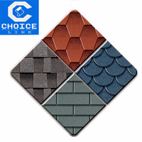 Cheap colourful fiberglass asphalt roofing shingles