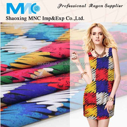 New design rayon fabric printing discharge printing