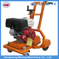 Hengwang walk behind gasoline 300mm blade diameter asphalt floor road used cutting saw machine concrete cutter
