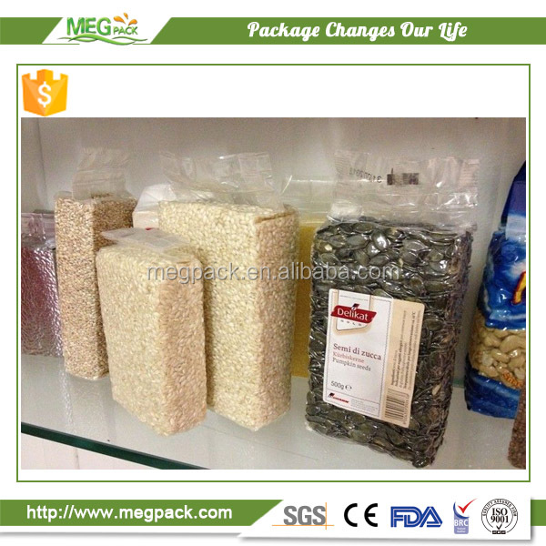 Hot sale food grade clear plastic vacuum embossed bag/ plastic preservation vacuum bag packing for rice and beans