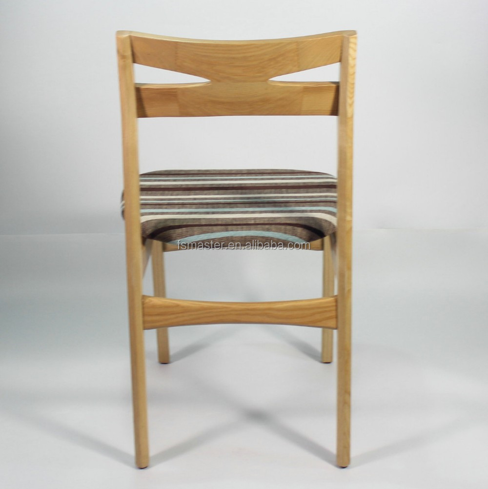 simple grace high quality solid wood dining timber chair for home/restaurant