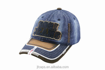 embroidery patch south america style denim blue sport baseball hats and caps with broken visor