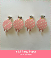 Pink Polka Dots Party Paper Blowout Party Paper Noise Makers