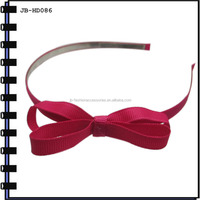 6mm Metal Headband With Ribbon Bow