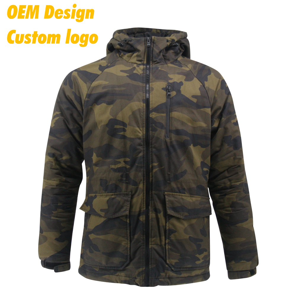 OEM Design Hot sales outdoor waterproof zip motorcycle Logo printing men winter jacket