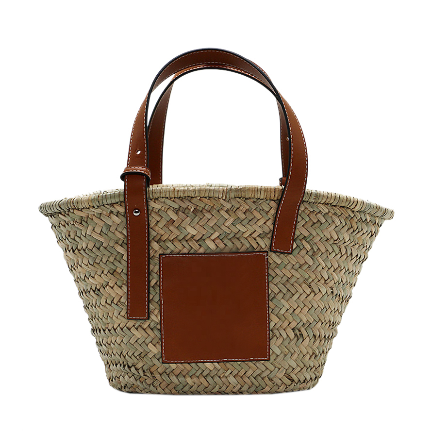 Ecofriendly Leather Strap Woven Straw Bags and <strong>Totes</strong> for Women
