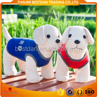 Bestdan color clothes new design china made plush stuffed toy labrador dog