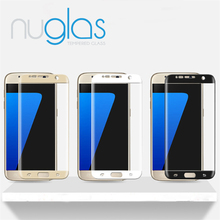 New coming!High quality 3D curved edge best tempered glass screen protectors for samsung galaxy S7