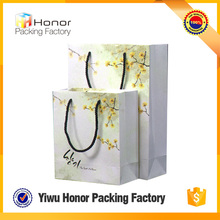 Wholesale Factory Price CMYK Printing Custom Pure Color Paper Carry Paper Makeup Bag