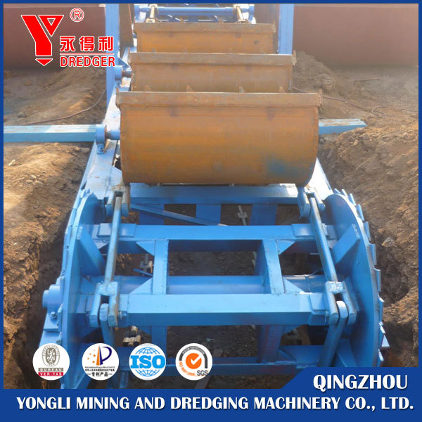 Best small bucket type chain gold dredger/diamond mining dredge/dredging boat for sale