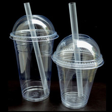 Clear Plastic Smoothie Milk Shake Cups Domed Lids 12 oz 16 oz Party,custom disposable plastic milk cup wholesale manufacturer