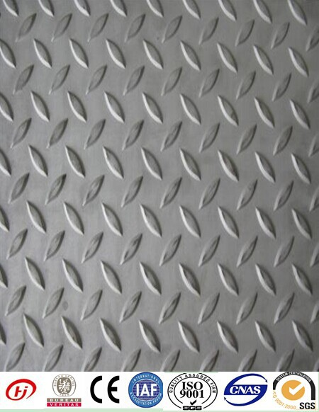Q235B/SS400/A36 mild carbon hot rolled chequered steel plate
