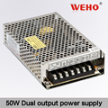 Hot-selling! Dual output D-50w power supply 5V 6A single output
