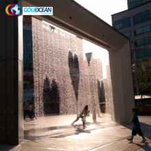 RGB lights Graphical Water Curtain Indoor Artificial Waterfall Fountain