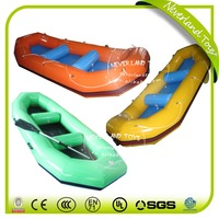 Customized NEVERLAND TOYS Colorful Inflatable Boat Inflatable Fishing Boat Inflatable Raft for Summer Game Best Quality