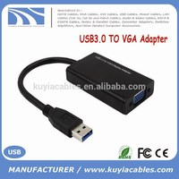 kuyia USB3.0 male TO VGA female Adapter White Blue Black Color USB VGA Display Cable Adapter For CRT/LCD/Monitor/Projector
