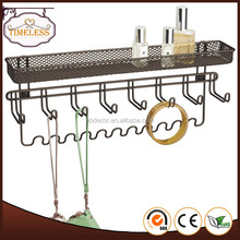Wholesale wall mount metal wire jewelry organizer