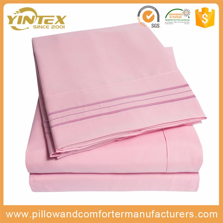 sets bed/textile fabrics for bed covers/100% polyester microfiber bed sheet set