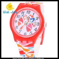 WJ-4252-12 2015 latest new arrival fashion fancy colorful silicon girls' sport wrist watch