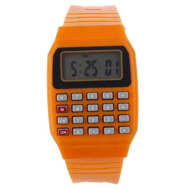 Xiniu Brand Hot Sale Women Men Silicone Wrist watches Multi-Purpose Date Time Electronic Calculator Watch Reloj Mujer