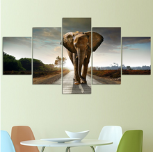Free Shipping Elephant Morden Abstract Painting Canvas Home Decoration Wall Pictures For Living Room Canvas Prints