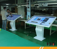 factory price 42 inch table type IR multi touch screen kiosk for advertisement
