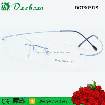 Men women Brand Titanium Rimless Eyeglasses Ultra Light Glasses Frame Reading Glasses