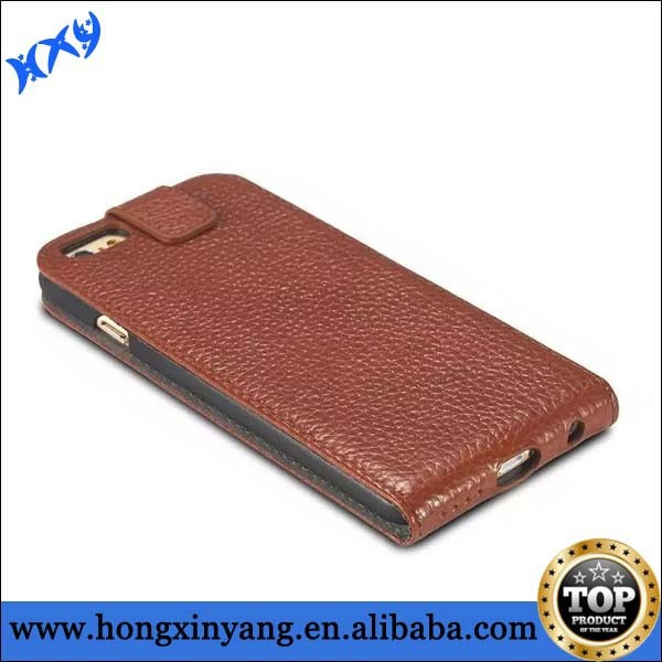 for iPhone 6 vertical magnetic flip leather case/Genuine leather case for iPhone 6