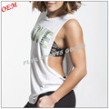 OEM manufacturer low MOQ custom printing loose fit ladies sleeveless fitness gym tank tops comfortable yoga singlet