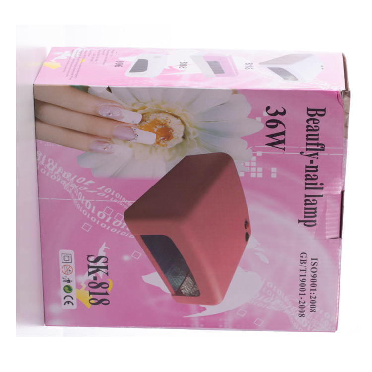 Hot Sale 36W Middle Size UV LED Nail Table Lamp Dryer with Beads for Nail Beauty Tool