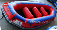 high quality interesting team river rafting boat with threat and raft paddles