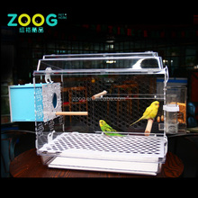 clear pet cage acrylic bird cage for parrot